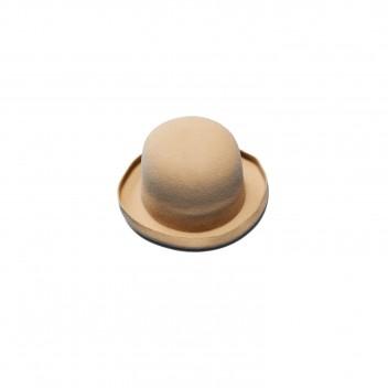RABBIT FUR BOWLER HAT