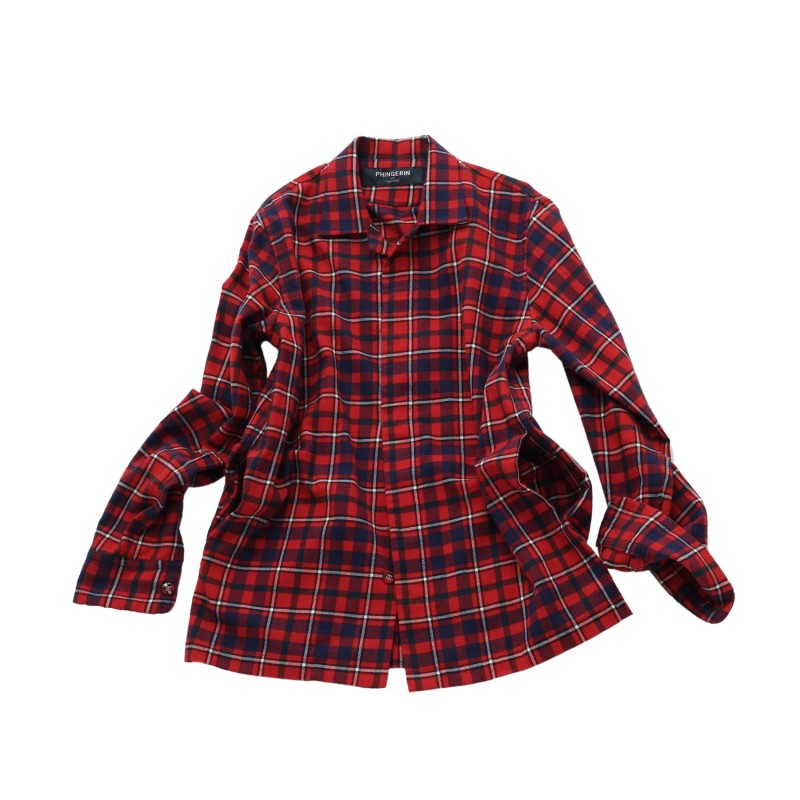 NEL TARTAN HIDDEN BUTTON SHIRT