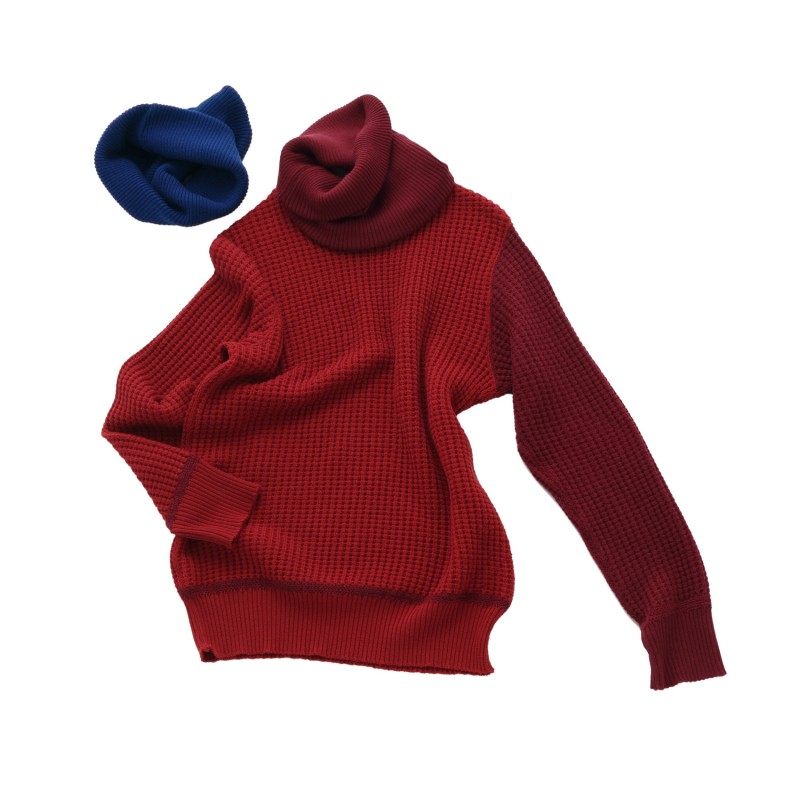 2 WAY TURTLE NECK SWEATER