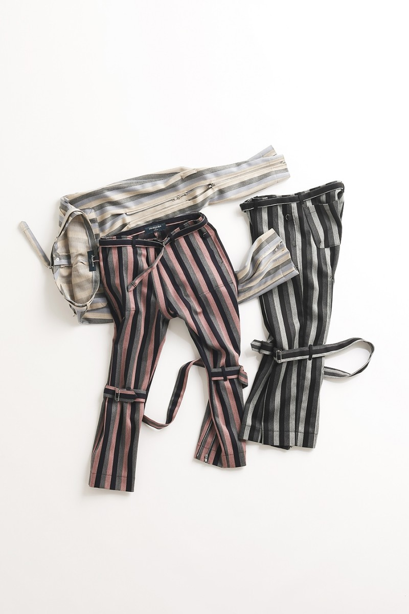 BONDAGE PANTS STRIPE WOOL