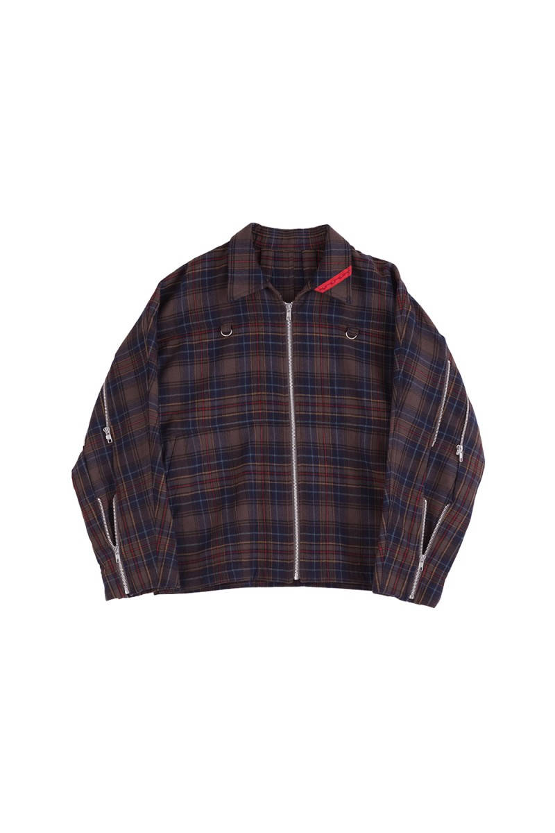 ZIP RUN JACKET PLAID