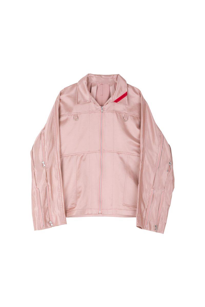 ZIP RUN JACKET SATIN