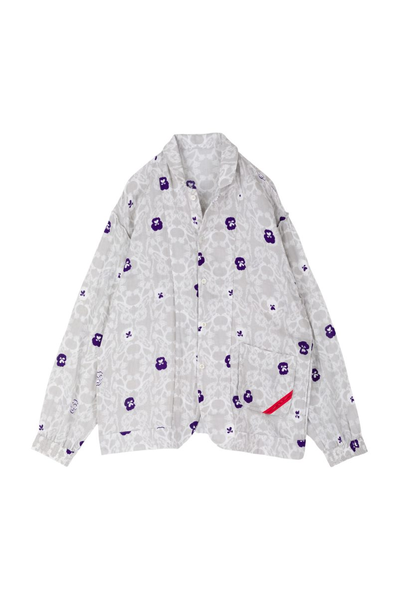 NIGHT SHIRT GAUZE PANSY