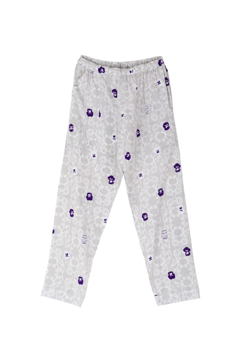 NIGHT PANTS GAUZE PANSY