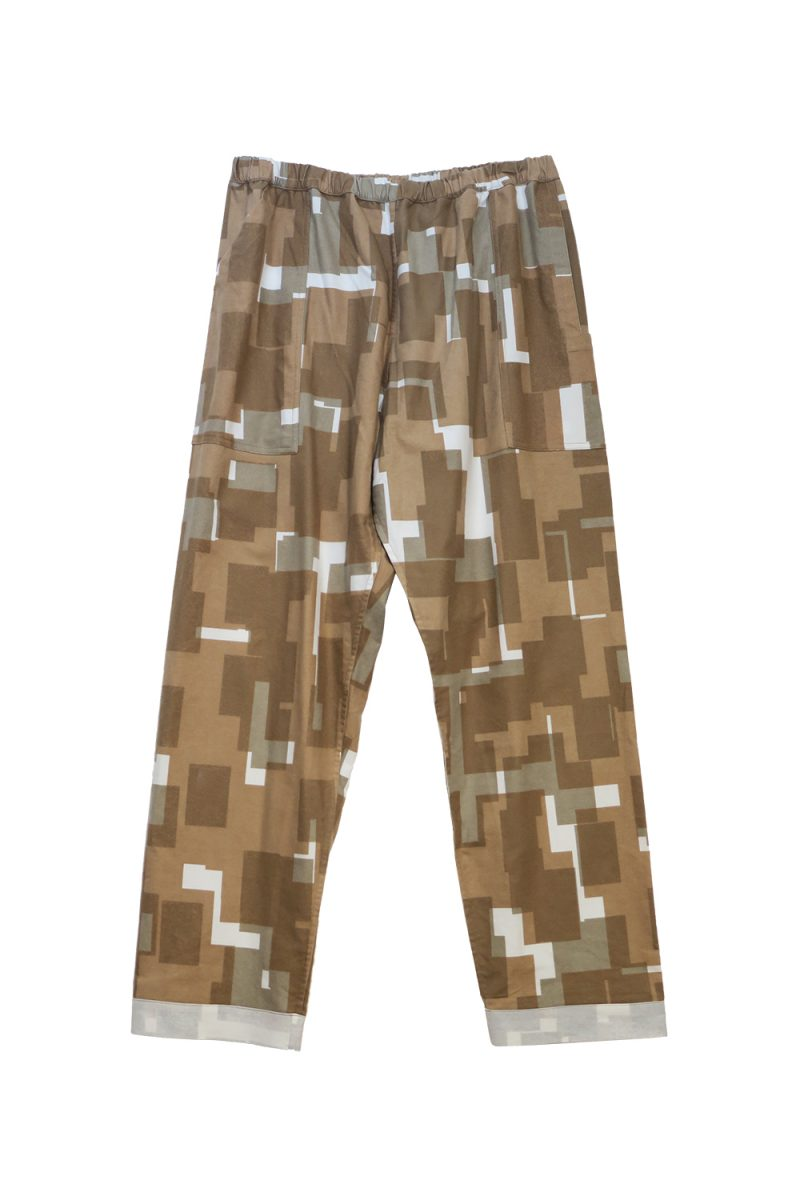 NIGHT PANTS NEL OVERLAYED SQUARES